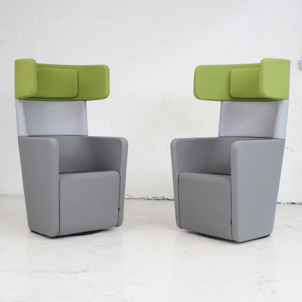 Bene PARCS Wing Chair  Set of 2  Privacy booth  small